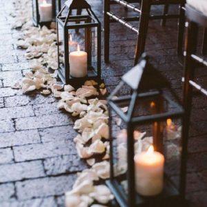 Lantaarntjes & rozenblaadjes