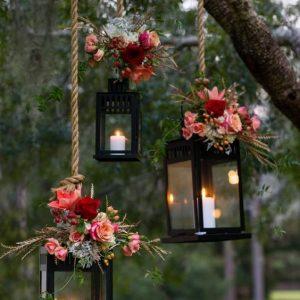 lantaarntjes met bloemen
