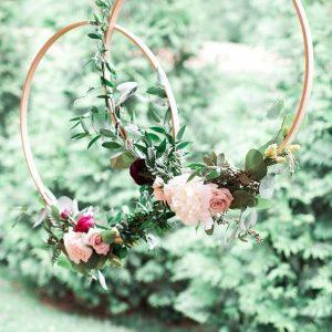 ringen met bloemen